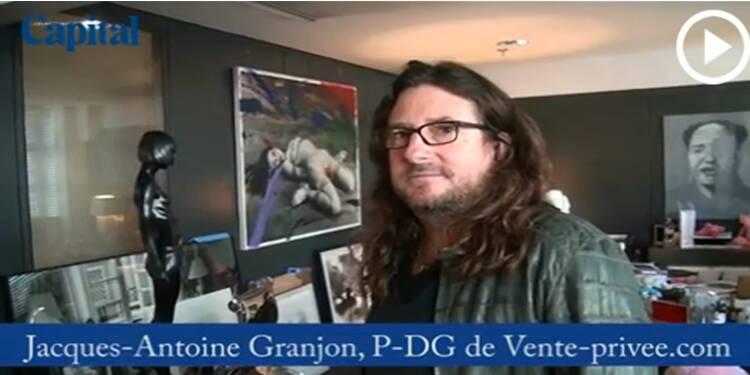 Dans le bureau de Jacques-Antoine Granjon, Pdg de Vente-privée.com