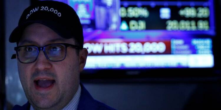 Wall Street passe la barre des 20.000 points