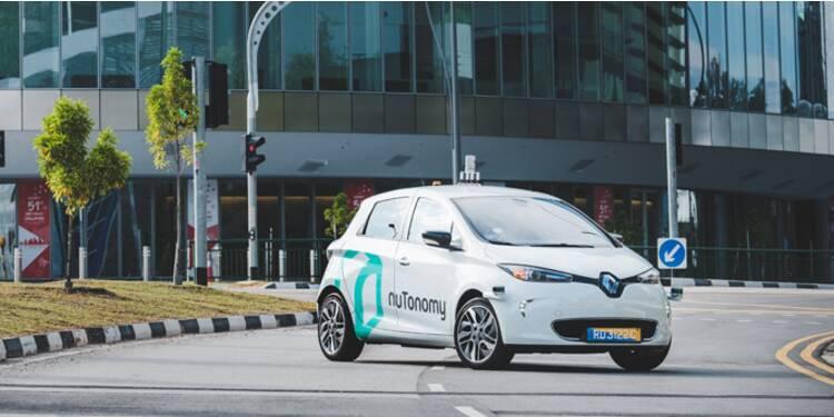 La première course de taxi sans chauffeur a eu lieu à Singapour