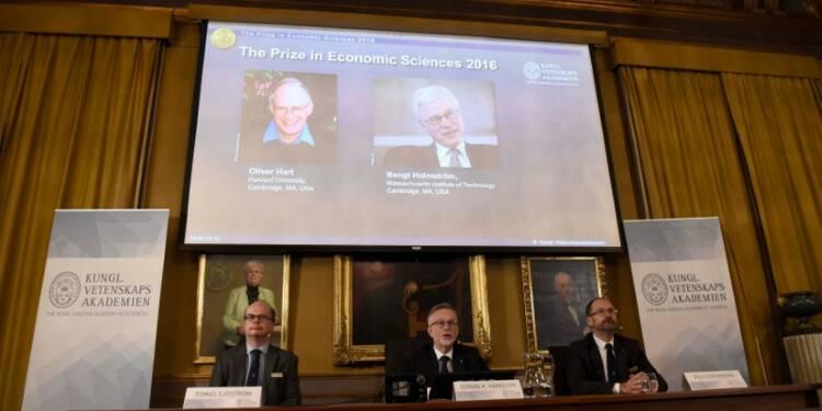 Le Nobel d'économie à Oliver Hart et Bengt Holmström