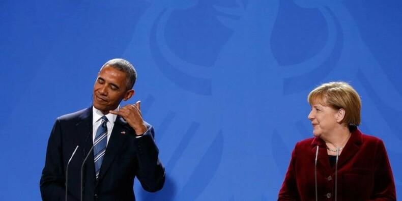 Obama fait l'éloge de Merkel, s'interroge sur Trump et la Russie