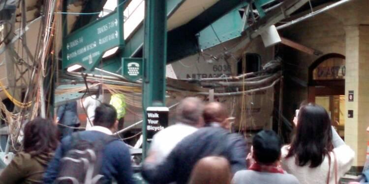 Un train déraille dans le New Jersey, un mort et 108 blessés
