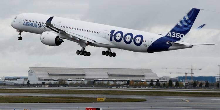 Premier vol d'essai pour le nouvel Airbus A350-1000