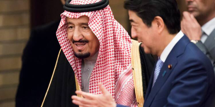 Abe fait la promotion de Tokyo pour l'IPO d'Aramco