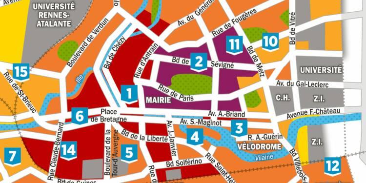 Immobilier : la carte des prix à Rennes