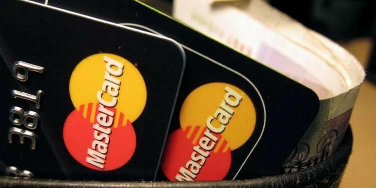 Le CA de MasterCard au 4ème trimestre légèrement moins élevé que prévu
