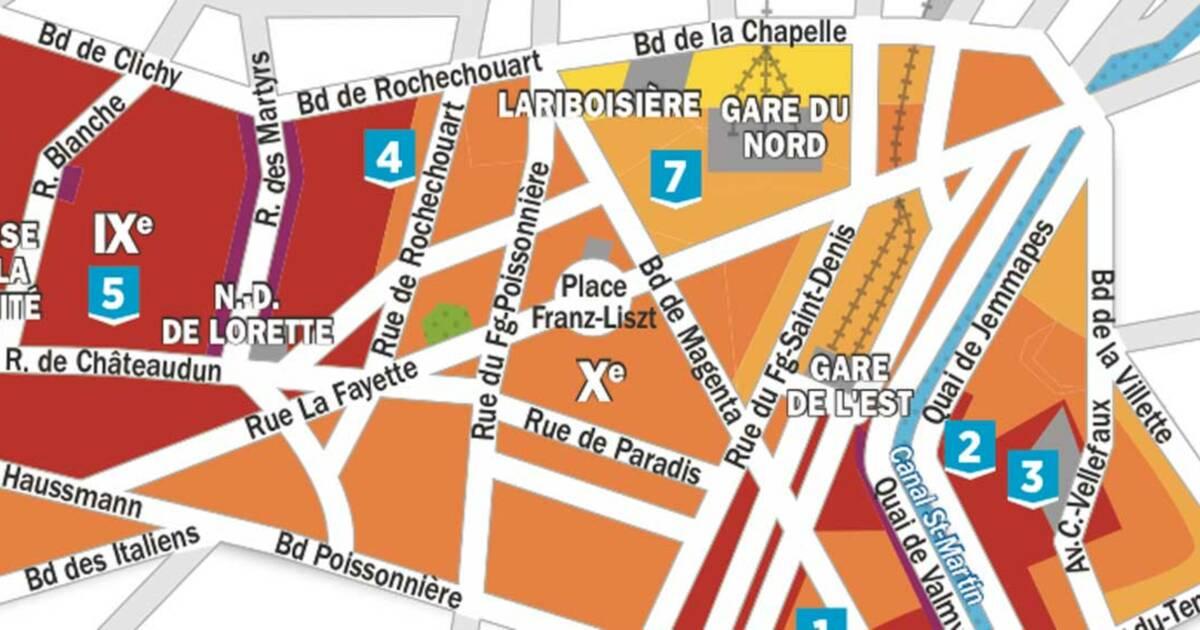Immobilier paris nos cartes de prix arrondissement par - Immobilier de luxe paris xvi arrondissement ...