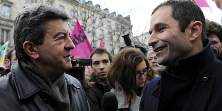 Hamon et Mélenchon entament de difficiles discussions