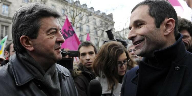 Hamon et Mélenchon entament de difficiles discussions