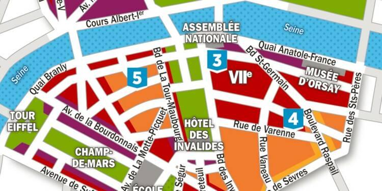 Immobilier : la carte des prix dans les 7ème et 8ème arrondissements de Paris