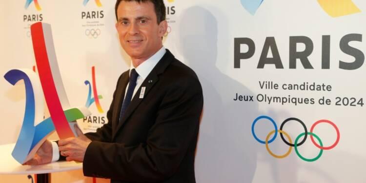 JO-2024: Valls engage l'Etat et un milliard d'euros derrière Paris