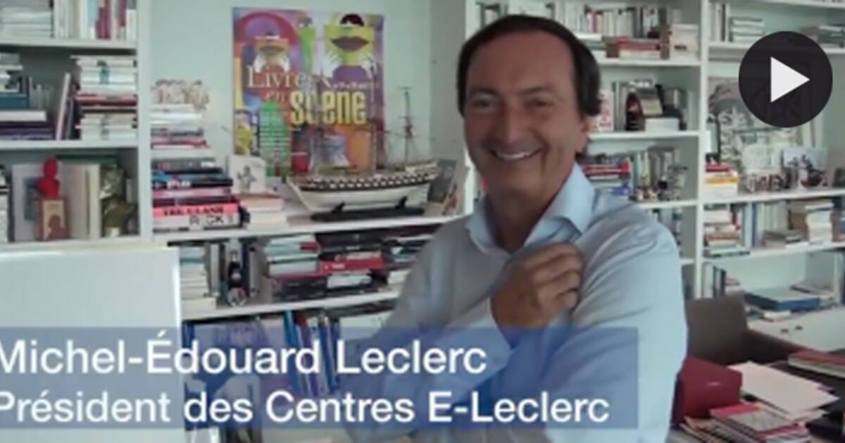 dans le bureau de michel edouard leclerc capital fr