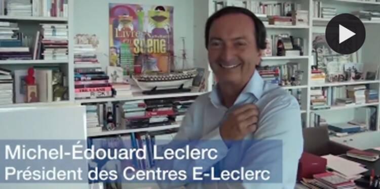 Dans le bureau de Michel Edouard-Leclerc