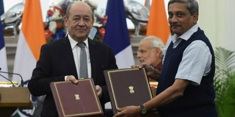 Rafale: Le Drian en Inde pour la signature du contrat des 36 avions de chasse