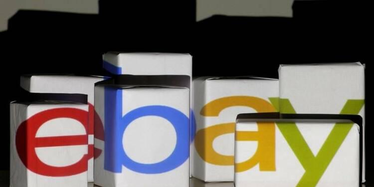 Le CA trimestriel d'eBay en hausse de 3,1%, l'action grimpe