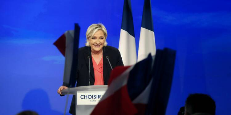 Marine Le Pen dans le sillage du père