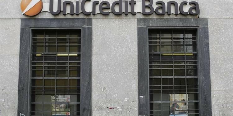 Baisse du ratio de solvabilité d'Unicredit, le titre recule