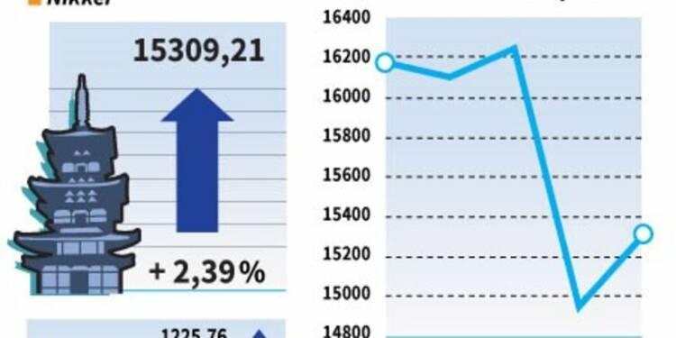 La Bourse de Tokyo finit en hausse de 2,39%