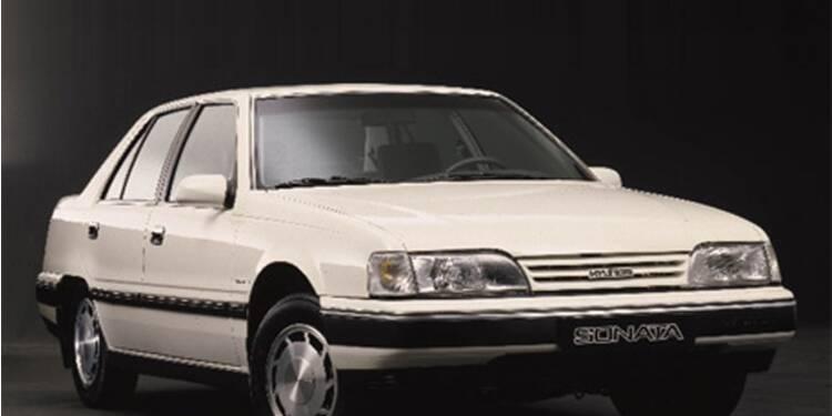 Hyundai Sonata,1989 : Une Coréenne fait les yeux doux aux Américains