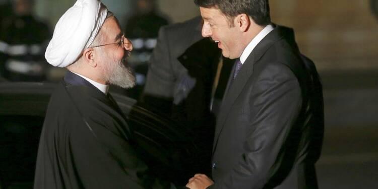 Le président iranien Hassan Rohani à Rome