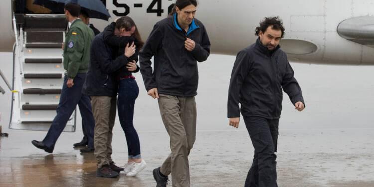 Retour en Espagne de trois journalistes séquestrés en Syrie