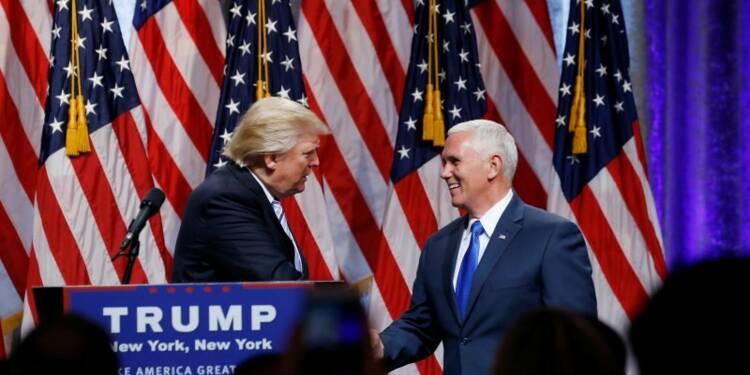 Donald Trump présente son colistier, Mike Pence
