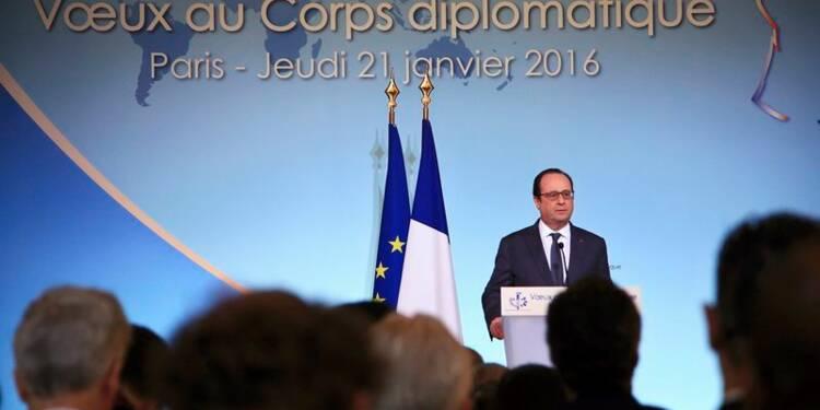 2016 doit être l'année de la transition en Syrie, dit Hollande