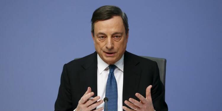 La BCE fera ce qu'il faut pour stimuler l'inflation, dit Draghi