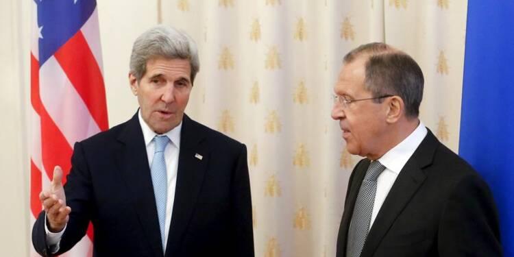 """John Kerry veut parvenir à des """"progrès réels"""" sur la Syrie"""