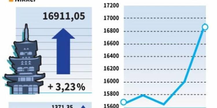 La Bourse de Tokyo bondit en clôture de 3,23%