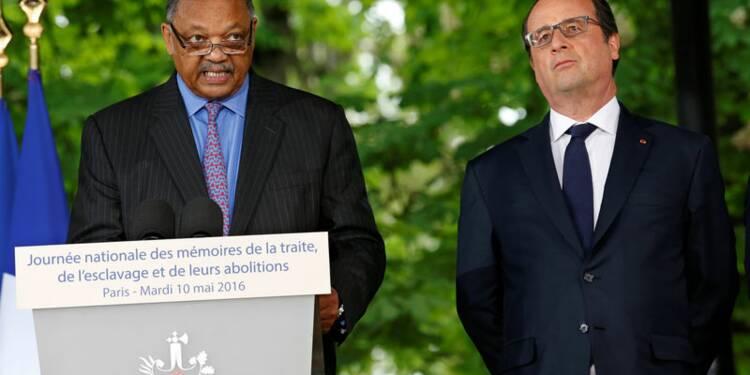 Hollande, Taubira et Jesse Jackson réunis contre l'esclavage