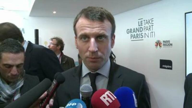 Emmanuel Macron visite le Mipim à Cannes