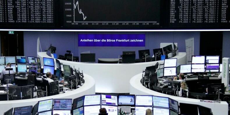Les Bourses européennes dans le rouge à la mi-séance