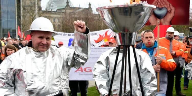 Allemagne: 45.000 manifestants en soutien à la sidérurgie