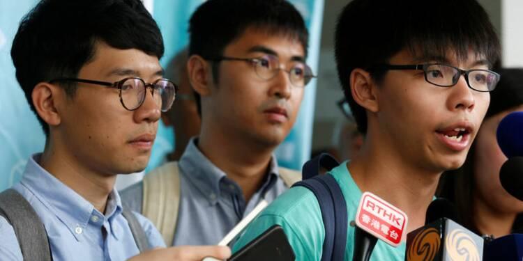 3 leaders du mouvement démocrate de Hong Kong évitent la prison