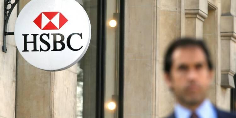 Le bénéfice trimestriel de HSBC en baisse mais moins que prévu