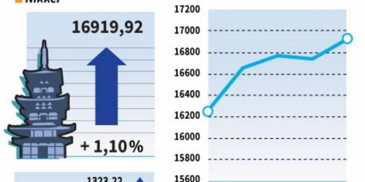 La Bourse de Tokyo finit en hausse, entraînée par Wall Street