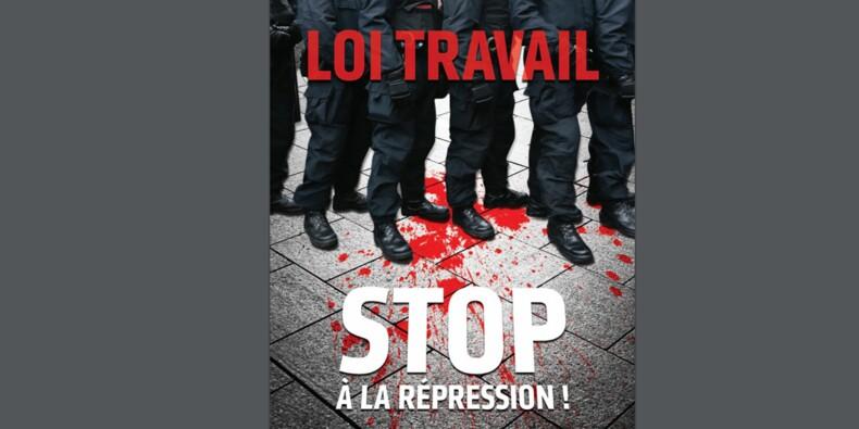 Polémique sur une affiche de la CGT contre la répression policière : choquant ou pas ?