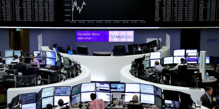 """COR-Les marchés parient sur un """"Bremain"""", en hausse à mi-séance"""