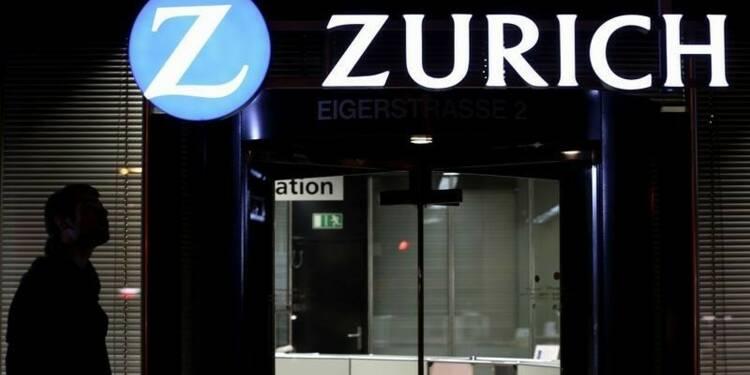 Le benefice net de Zurich Insurance recule moins qu'attendu