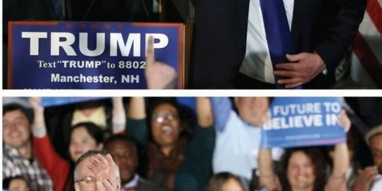Trump et Sanders remportent les primaires dans le New Hampshire
