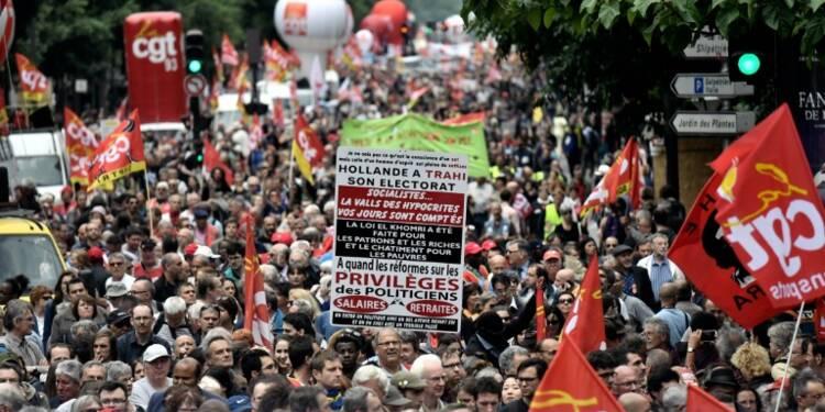 Loi travail: entre 64.000 et 200.000 opposants dans les rues partout en France