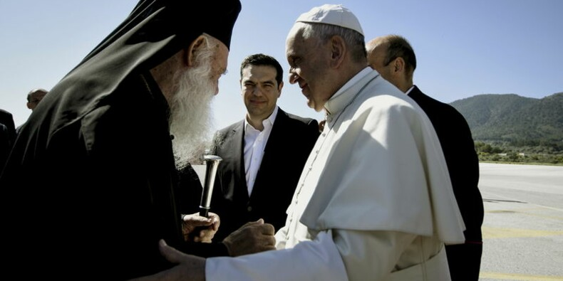 Le pape à Lesbos en solidarité avec les migrants