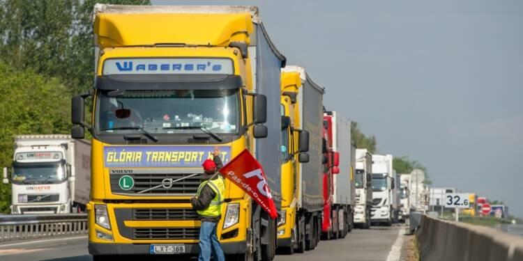 Les règles sociales pour les routiers étrangers en vigueur vendredi