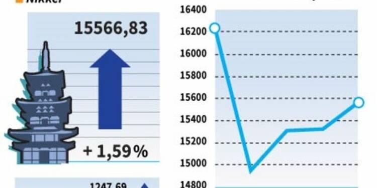 La Bourse de Tokyo gagne 1,59%, la peur du Brexit s'estompe