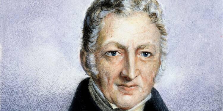 Thomas Malthus (1766-1834) : il a mis en garde contre l'explosion démographique