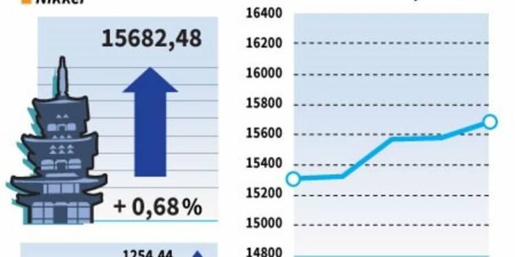 La Bourse de Tokyo finit en hausse de 0,68%