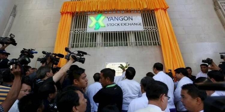 Débuts de la Bourse de Rangoon avec une valeur unique cotée