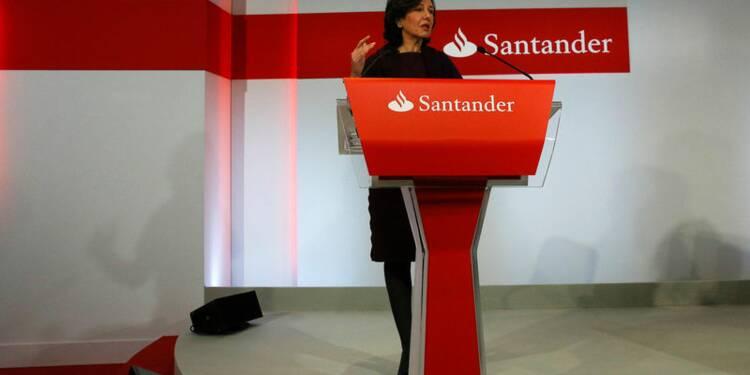 Pour Santander, Grande-Bretagne et Brésil pèsent sur le bénéfice
