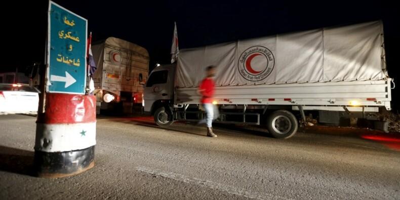 L'aide humanitaire arrive dans cinq zones assiégées de Syrie